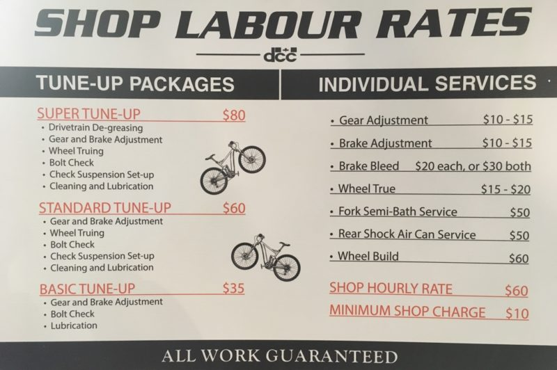 Dodge City Cycles Shop Labour Rates